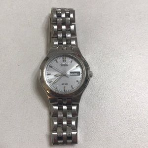 Citizen Eco Drive WR 100 silver watch